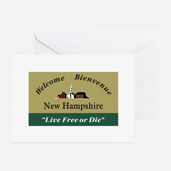 Welcome to New Hampshire Greeting Cards (Pk of 10)