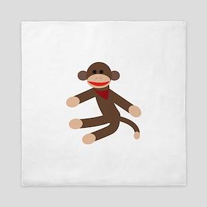 Sock Monkey Queen Duvet