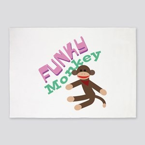 Funky Monkey 5'x7'Area Rug