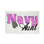 Navy Aunt Rectangle Magnet (10 pack)