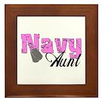 Navy Aunt Framed Tile