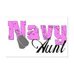 Navy Aunt  Mini Poster Print