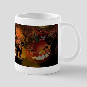 Skull Witch Creepy Halloween Mugs