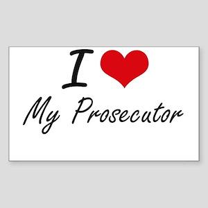 I Love My Prosecutor Sticker
