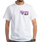 Navy Aunt White T-Shirt