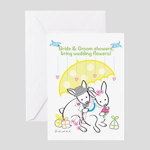 Bride & Groom Shower - Rabbit Greeting Cards