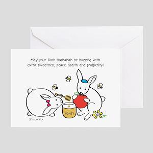 Rosh Hashanah Extra Sweet - Rabbits Greeting Cards