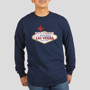 Welcome to Fabulous Las V Long Sleeve Dark T-Shirt