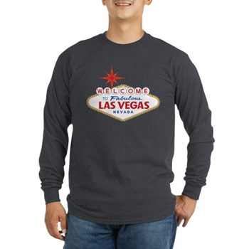 Welcome to Fabulous Las V Long Sleeve Dark T-Shirt