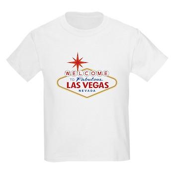 Welcome to Fabulous Las Vegas, Kids Light T-Shirt