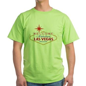 Welcome to Fabulous Las Vegas, NV Green T-Shirt