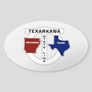 Texarkana, Texas-Arkansas Sticker (Oval)