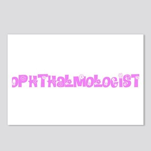 Ophthalmologist Pink Flow Postcards (Package of 8)