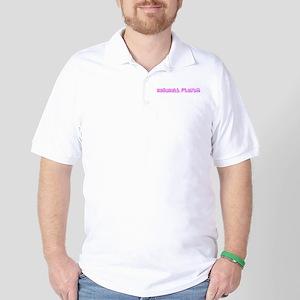 Baseball Player Pink Flower Design Golf Shirt