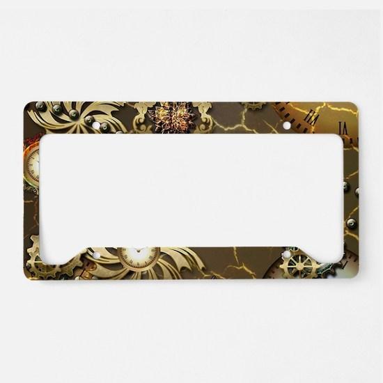 Steampunk License Plate Holder