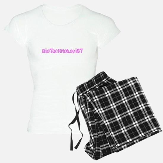 Biotechnologist Pink Flower Design Pajamas