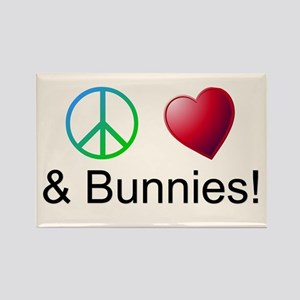 Peace Love Bunnies Magnets
