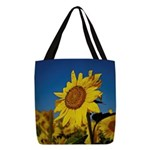 Sunflower Polyester Tote Bag