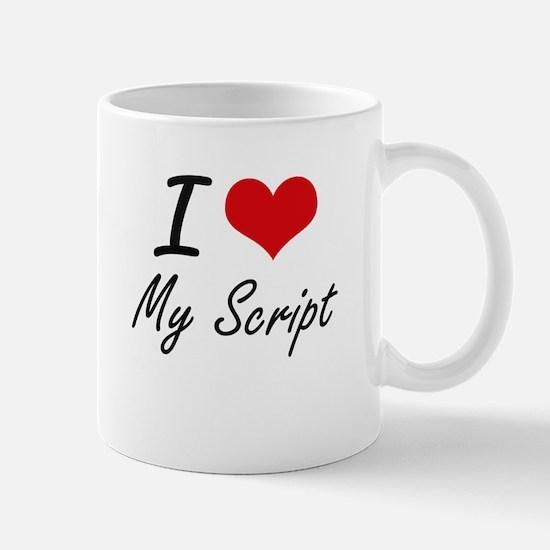 I Love My Script Mugs