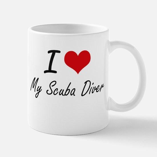 I Love My Scuba Diver Mugs