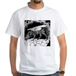 Tiger-headed <br>Zebragryph<br> White T-Shirt
