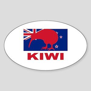 Kiwi Oval Sticker
