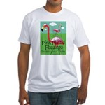 Pink Plastic Flamingo Fitted T-Shirt