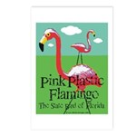 Pink Plastic Flamingo Postcards (Package of 8)