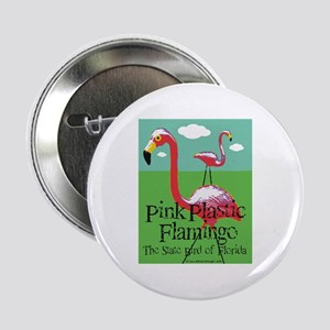 Pink Plastic Flamingo Button