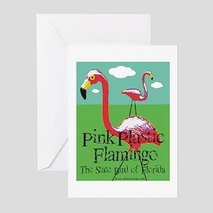 Pink Plastic Flamingo Greeting Cards (Pk of 20)