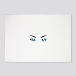 Womans Eyes 5'x7'Area Rug