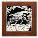 Tiger-headed <br>Zebragryph<br> Framed Tile