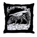 Tiger-headed <br>Zebragryph<br> Throw Pillow
