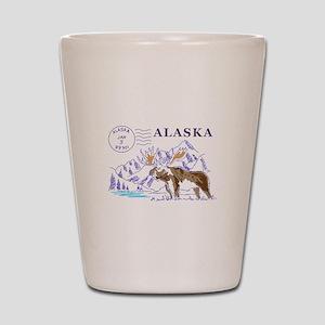 Travel Alaska Shot Glass