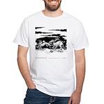 Saluki and Dragon<br> White T-Shirt