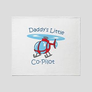 Daddys Co-Pilot Throw Blanket