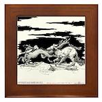 Saluki and Dragon<br> Framed Tile
