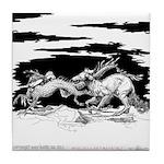 Saluki and Dragon<br> Tile Coaster