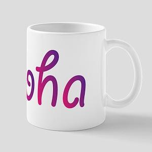 Aloha in pink and purple Mugs