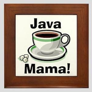 Java Mama Framed Tile