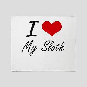 I love My Sloth Throw Blanket