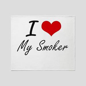 I love My Smoker Throw Blanket