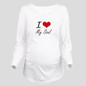 I love My Soul Long Sleeve Maternity T-Shirt