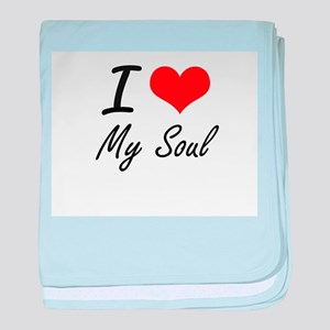 I love My Soul baby blanket