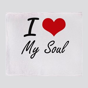 I love My Soul Throw Blanket