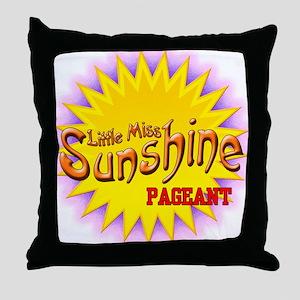 Little Miss Sunshine Pageant Throw Pillow