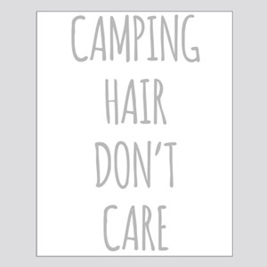 Camping Hair Dont Care Poster Design