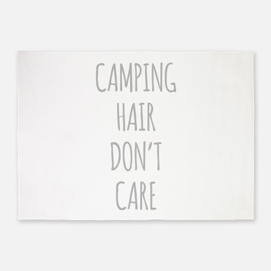 Camping Hair Dont Care 5'x7'Area Rug
