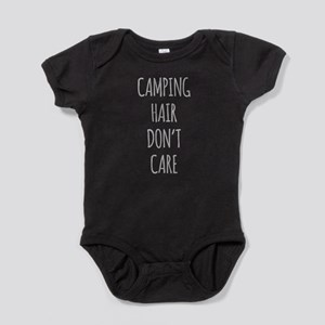 Camping Hair Dont Care Baby Bodysuit