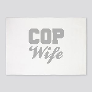 Cop Wife 5'x7'Area Rug